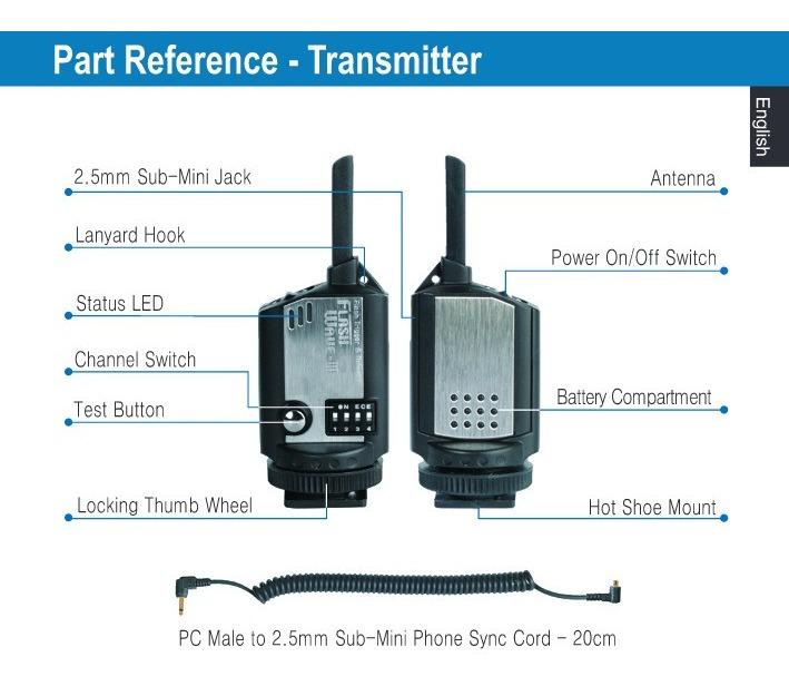 SMDV Digital Radio esclavo Flashwave III control remoto inalámbrico disparador de liberación del obturador