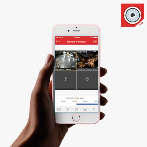 cámaras de seguridad kit 1080p hikvision mini dvr 4ch + 4cám