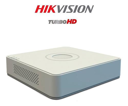 cámaras de seguridad kit 1080p hikvision mini dvr 8ch + 4cám
