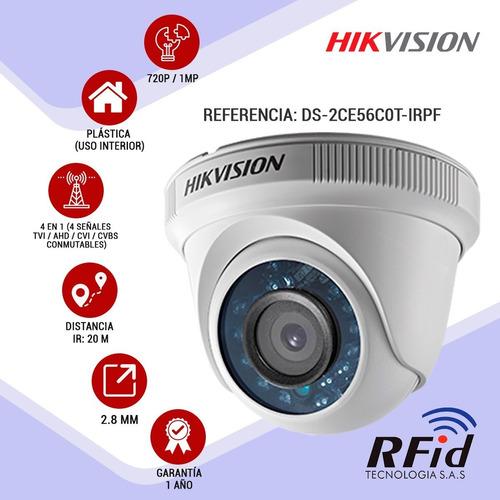 cámaras de seguridad kit 720p hikvision mini dvr 8ch + 4 cám