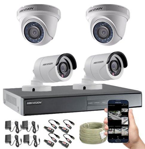 cámaras de seguridad kit cctv 720p hikvision dvr 16ch + 4cám