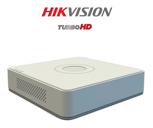cámaras de seguridad kit cctv hikvision mini dvr 4 ch + 4cám