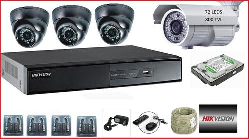 cámaras de seguridad y alarma domiciliaria.$3500