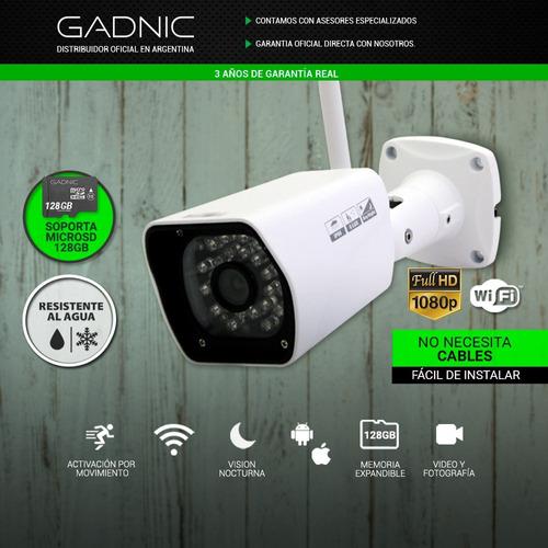 cámaras ip inalámbrico p2p023 1080 fhd out 8gb detecta cuota