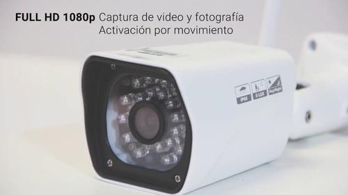 cámaras ip inalámbrico p2p023 1080p fhd exterior 8gb detecta