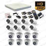 Kit 16 Camaras Seguridad Turbo Hd 720p Hikvision Disco 2tb