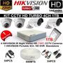 Kit De Seguridad Cctv 4 Camaras Completo Hd Hikvision Turbo