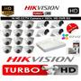 Kit 16 Camaras De Seguridad Turbo Hd Hikvision Configurado