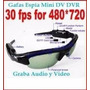 Cámara Espía Mini Dv Dvr Sun Glasses Spy Audio Video Cctv Pc