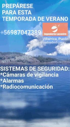 cámaras vigilancia alarmas equipos de radio villarrica pucon