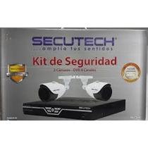 Kit Camaras De Seguridad Secutech Dvr 4ch 2cam 650tvl Cctv