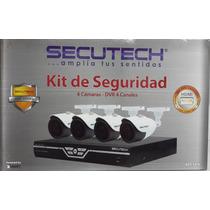 Kit De Seguridad Secutech 4 Canales 4 Camaras 650tvl 960h