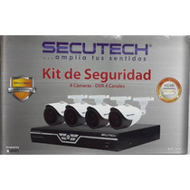 Kit De Seguridad Secutech 4 Camaras + Dvr 4 Canales