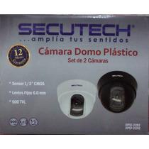 Dpst-22 Kit Camaras Secutech Con Cable/transform/conector/