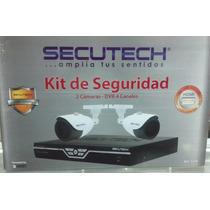 Kit De Seguridad Secutech,dos Camaras Dvr 4 Canales
