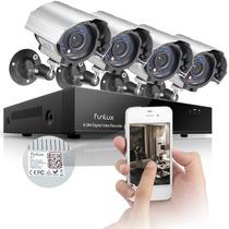 Kit Camaras Seguridad 8 Canales 4cam 700tvl Dvr 500gb Funlux