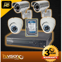 Cctv Kit De 4 Camaras De Seguridad Truvision + Disco Duro