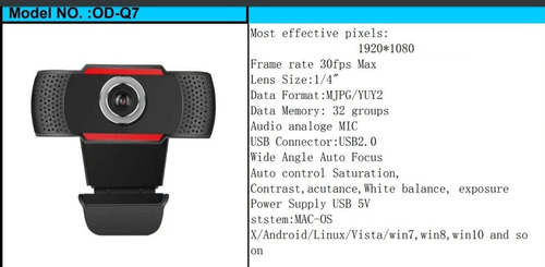 camaras web full hd - webcam 1080p