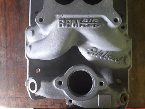 camarin edelbrock air gap para motor 350 modelo viejo