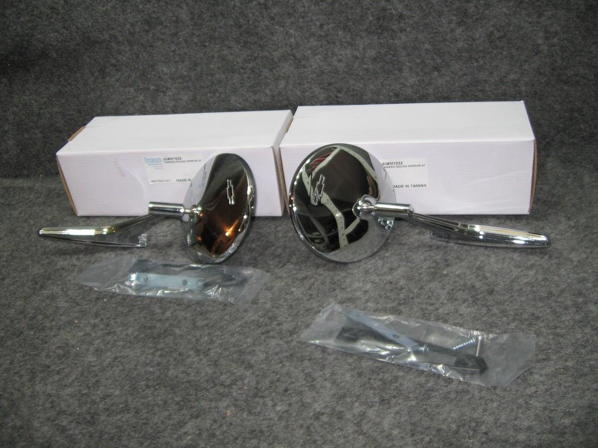 Camaro chevelle nova impala espejos redondos con logo for Donde comprar espejos redondos