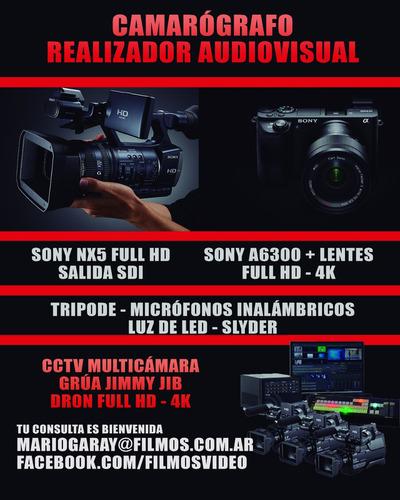 camarógrafo sony nx5 / a6600 | streaming hd | videografo