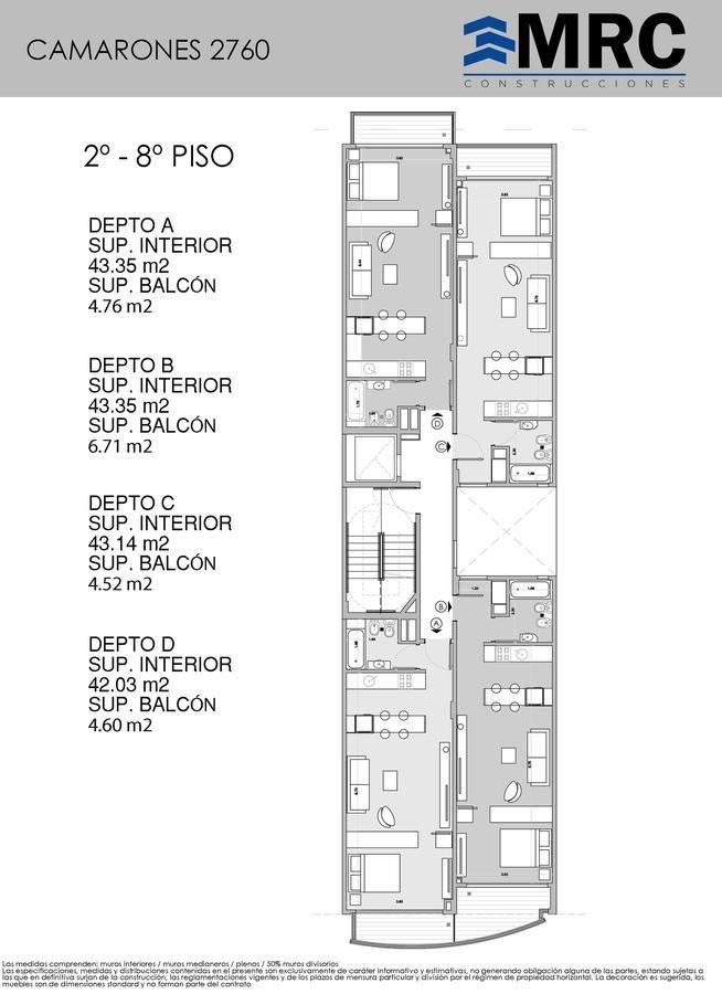 camarones 2760 1b- departamento de 1 ambiente divisible a a estrenar entrega ya- villa del parque