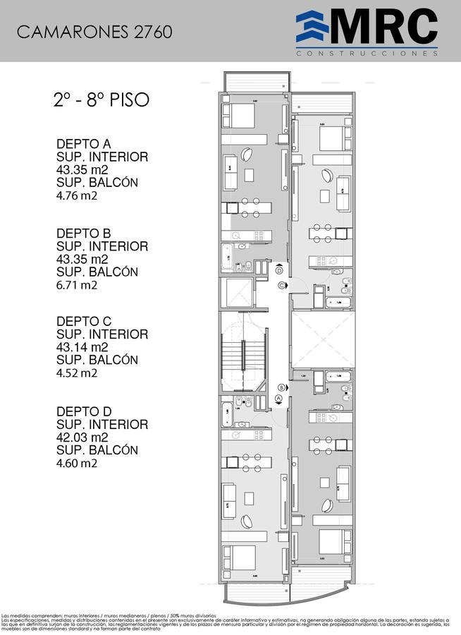 camarones 2760 6c- departamento de 1 ambiente divisible a estrenar entrega ya- villa del parque