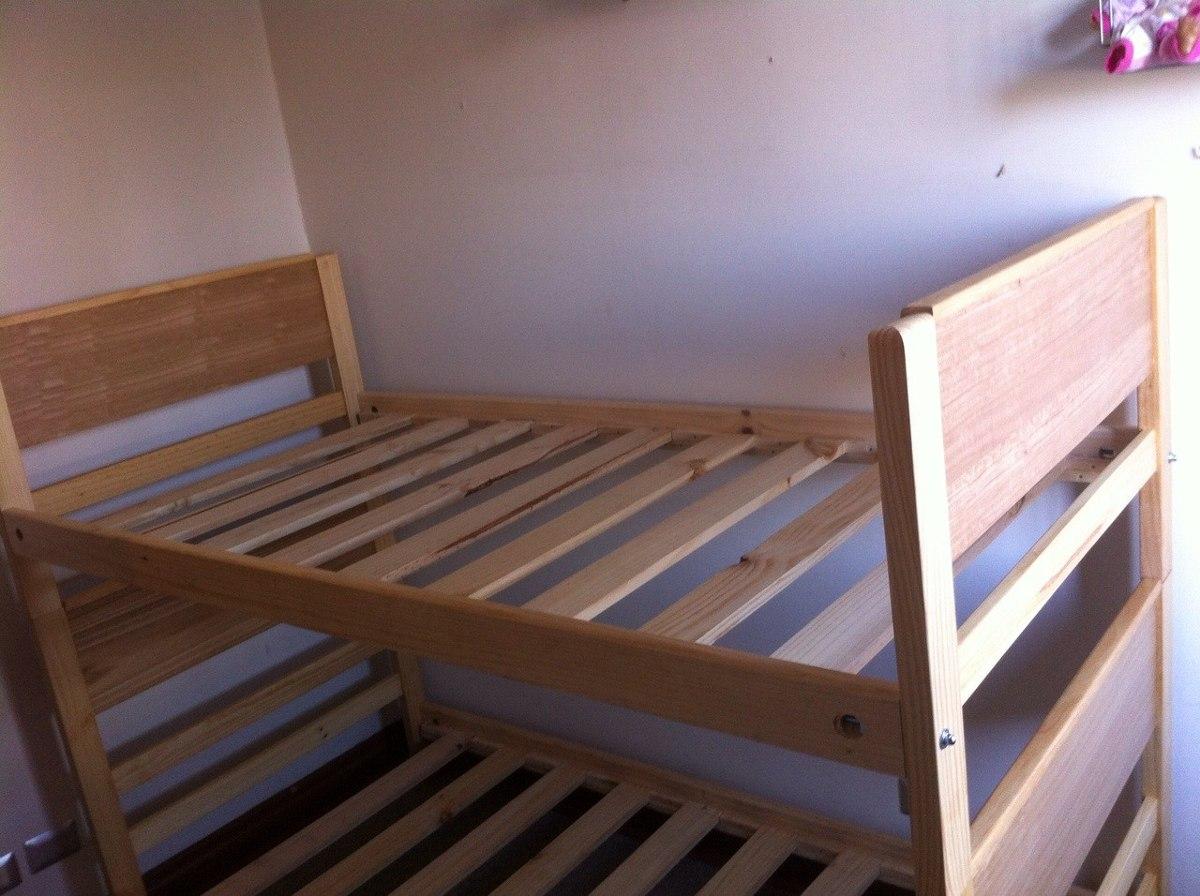 Camarote 1 1 2 plaza madera barnizada somier sueco fabrica en mercado libre - Fabricas de madera ...