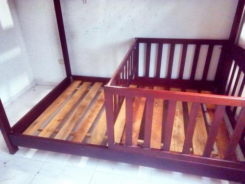 camarote de segunda, semidoble en madera cedro.