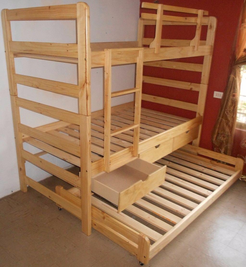 Camarote nido con cajones de 1 plaza color miel 318 for Cama nido sin cajones