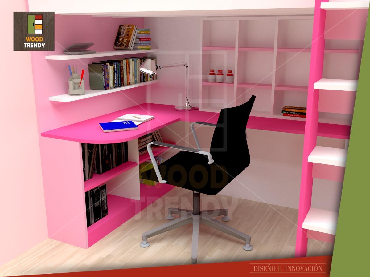 Camarote ropero y escritorio de melamina s en for App para hacer muebles