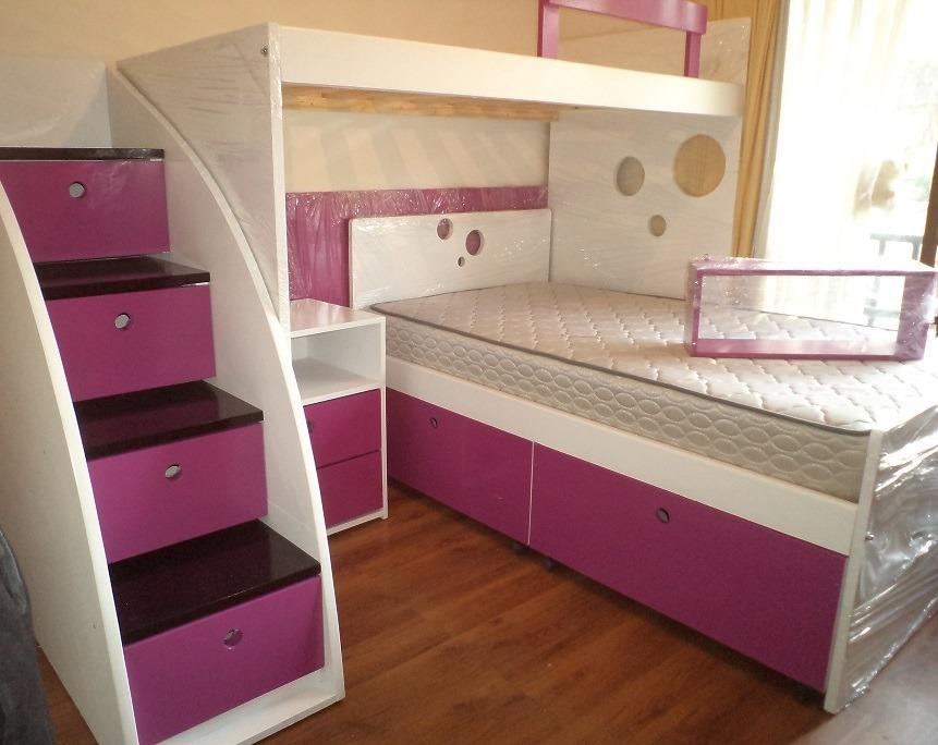 Camarotes cama alta baja nido escalera velador nuevos - Escaleras para camas nido ...