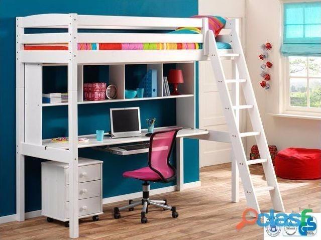Camarotes c cama alta escritorio escalera en - Escaleras para camas altas ...