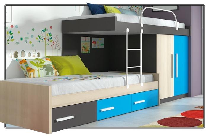 Camarotes y camas para ni os s en mercado libre for Habitacion para adultos completa barata