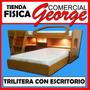 Trilitera Con Escritorio Y Baul - Comercial George Boleita