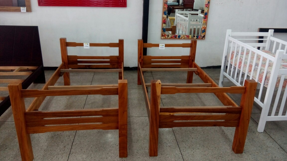 Camas Individuales En Madera Saman Restauradas - Bs. 105.500.000,00 ...
