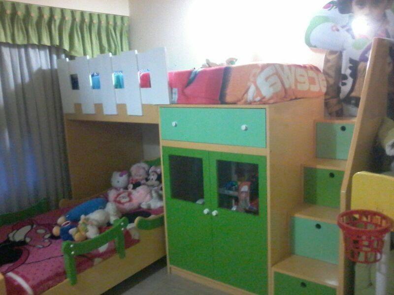 Infantiles dobles infantiles dobles nino nina with for Camas puente infantiles