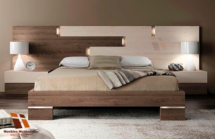 Camas lineales modernas 2 plazas con luz led u s 620 00 for Ofertas de camas king size