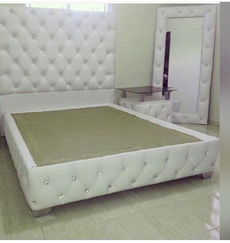 camas matrimonial, queen y king, tapizadas
