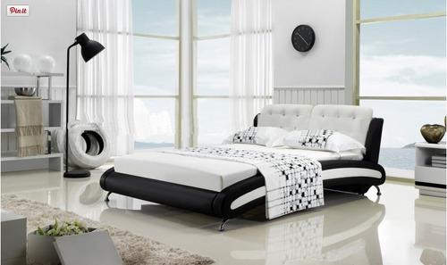 camas modernas tapizadas modelos europeos