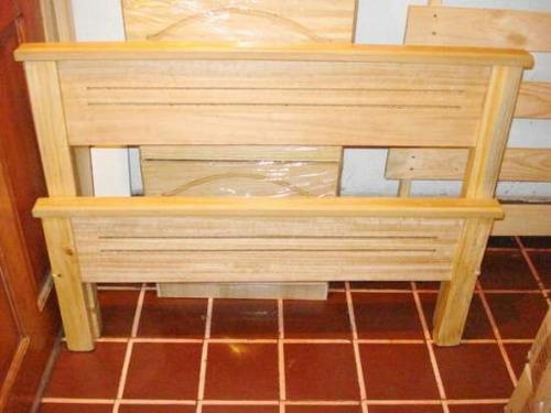 camas nuevas madera 1p o plaza y media