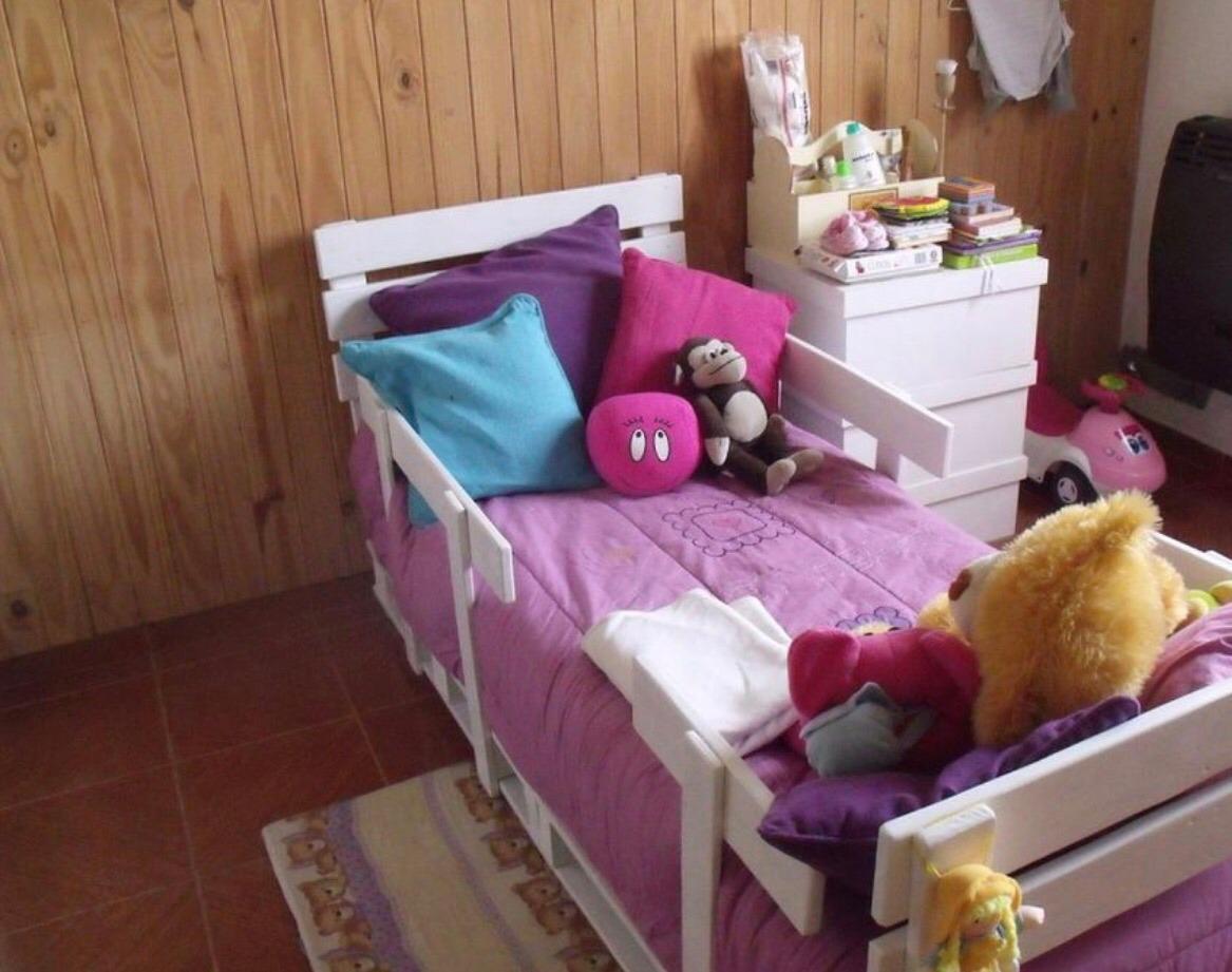 Camas para ni os de palet en mercado libre for Cabeceras de cama con tarimas