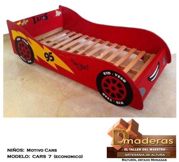 camas para nios modelo cars econmico