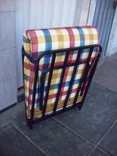 camas plegable 1 1/2 modelo comodoy+colchon d 4pulg,  80cm