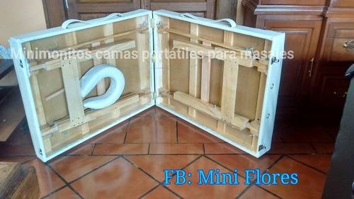 camas portatiles para masajes en madera vv4