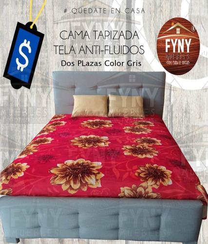 **camas tapizadas en tela antifluido **laurel negro oriente