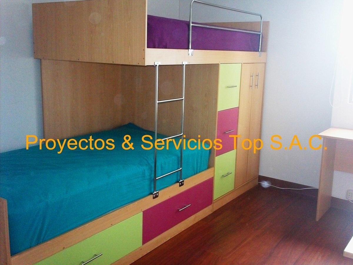Camas y camarotes para ni os amoblamientos s for Amoblamientos para dormitorios
