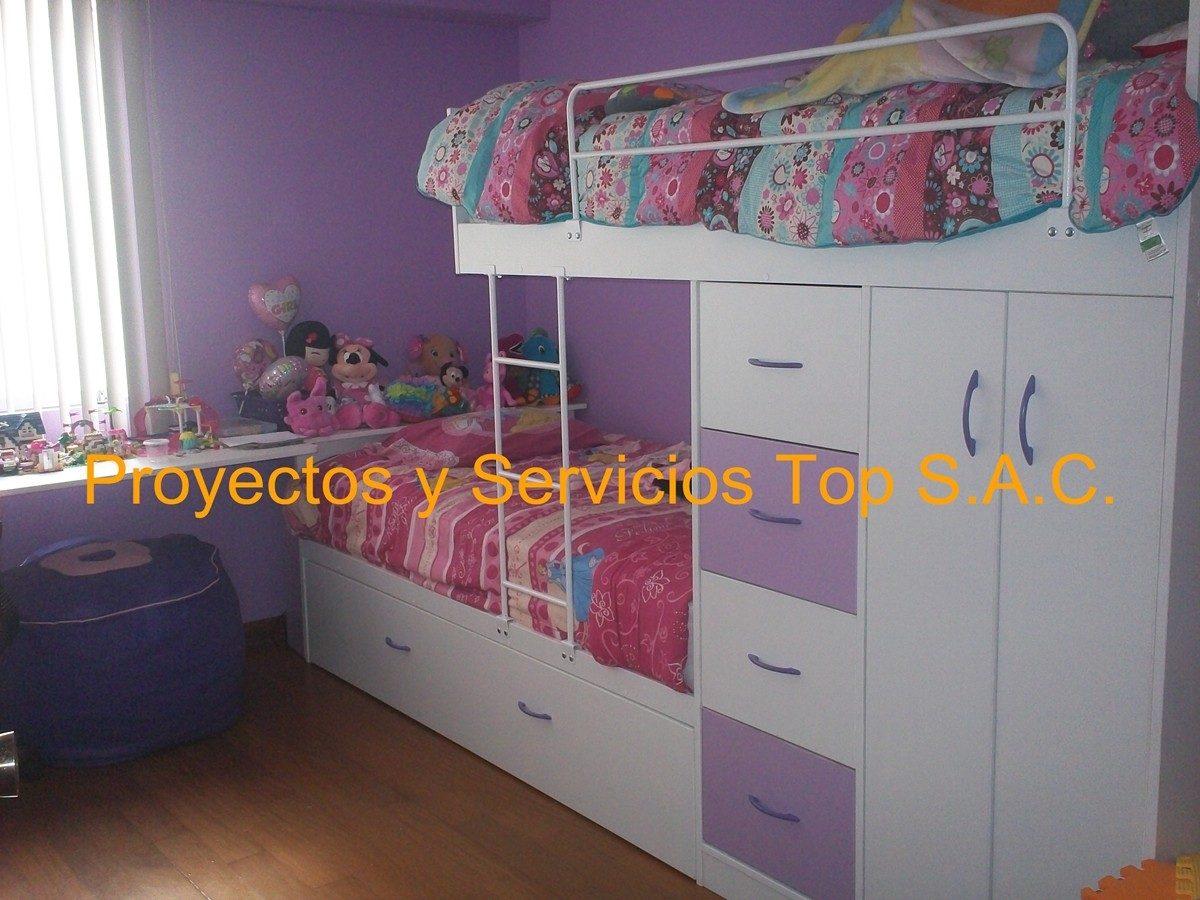 Camas y camarotes para ni os amoblamientos s for Roperos para cuartos de ninas