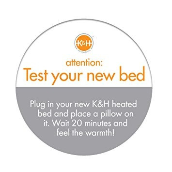 camas,k y h thermo-kitty cat climatizada cama, de 20 pul..