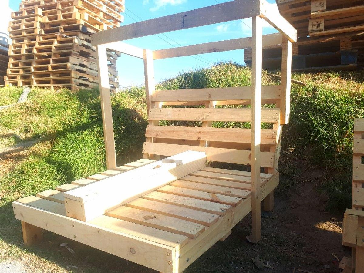 Camastro de madera estilo palets 3 en mercado libre - Maderas de palets ...